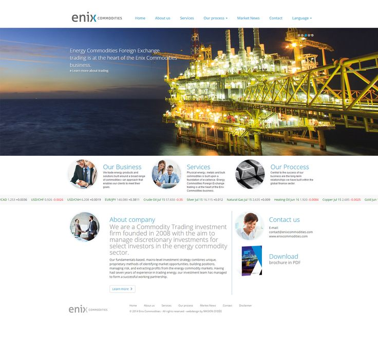 Enix Commodities Corporate Identity, Webdesign