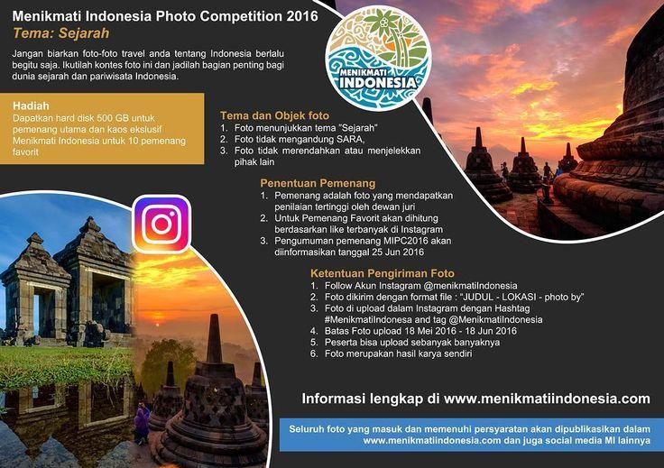 """Ikuti Lomba foto dengan Tema """"Sejarah"""" Follow IG kami @MenikmatiIndonesia upload sebanyak banyaknya dengan hashtag #MenikmatiIndonesia dan tag @MenikmatiIndonesia. Batas Waktu upload mulai hari ini sampai tgl 18 Juni. Ayo buruan ikut ada hadiah yg menarik.  #photo#competition#history#menikmatiindonesia #hinting#photos#photos#vsco#vscocam#iphone#iphonesia#instafollow #instagram #instaphoto #instalike#instagood#Indonesia by menikmatiindonesia"""