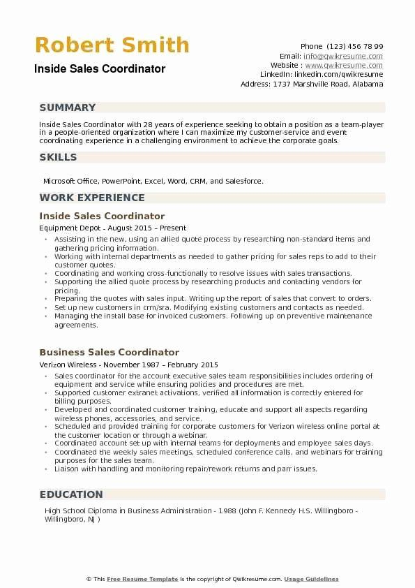 Inside Sales Resume Examples Awesome Inside Sales Coordinator Resume Samples Sales Resume Examples Resume Examples Manager Resume