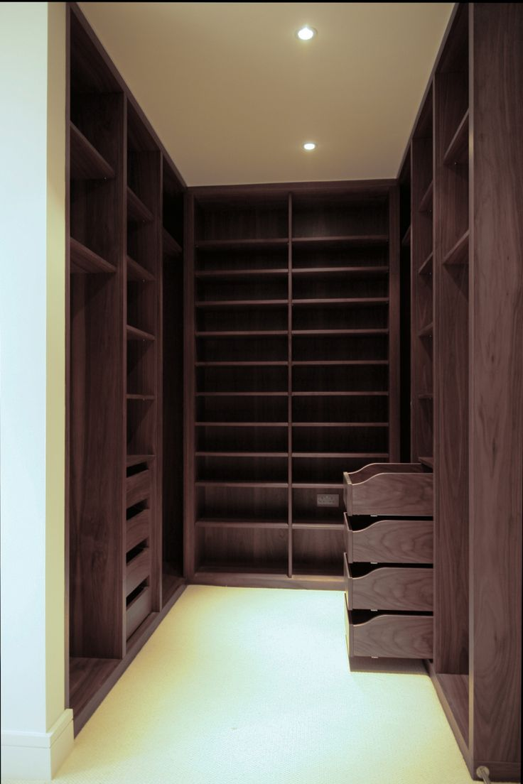 One day... walk in wardrobe shelves bespoke furniture