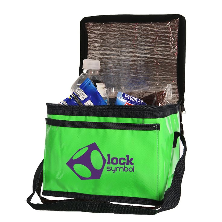"#TCB120 - Laminated Six Pack Lunch Cooler Bag (8""W x 6""H x 6""D)"