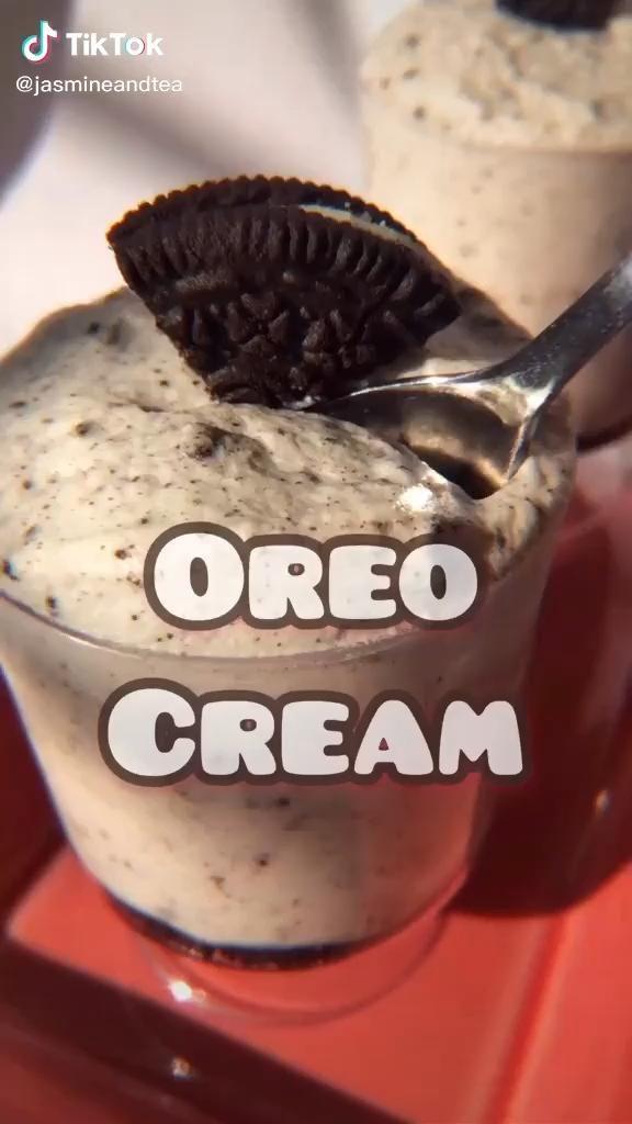 Jasmineandtea Oreo Cream Dessert Tiktok Cooking 2020 Recipe Oreo In 2021 Food Videos Desserts Yummy Food Dessert Fun Baking Recipes
