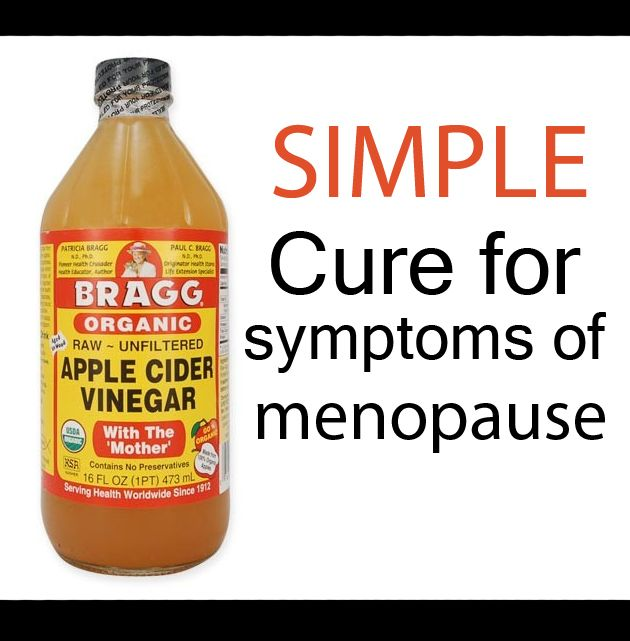 Apple cider vinegar cure for menopause symptoms