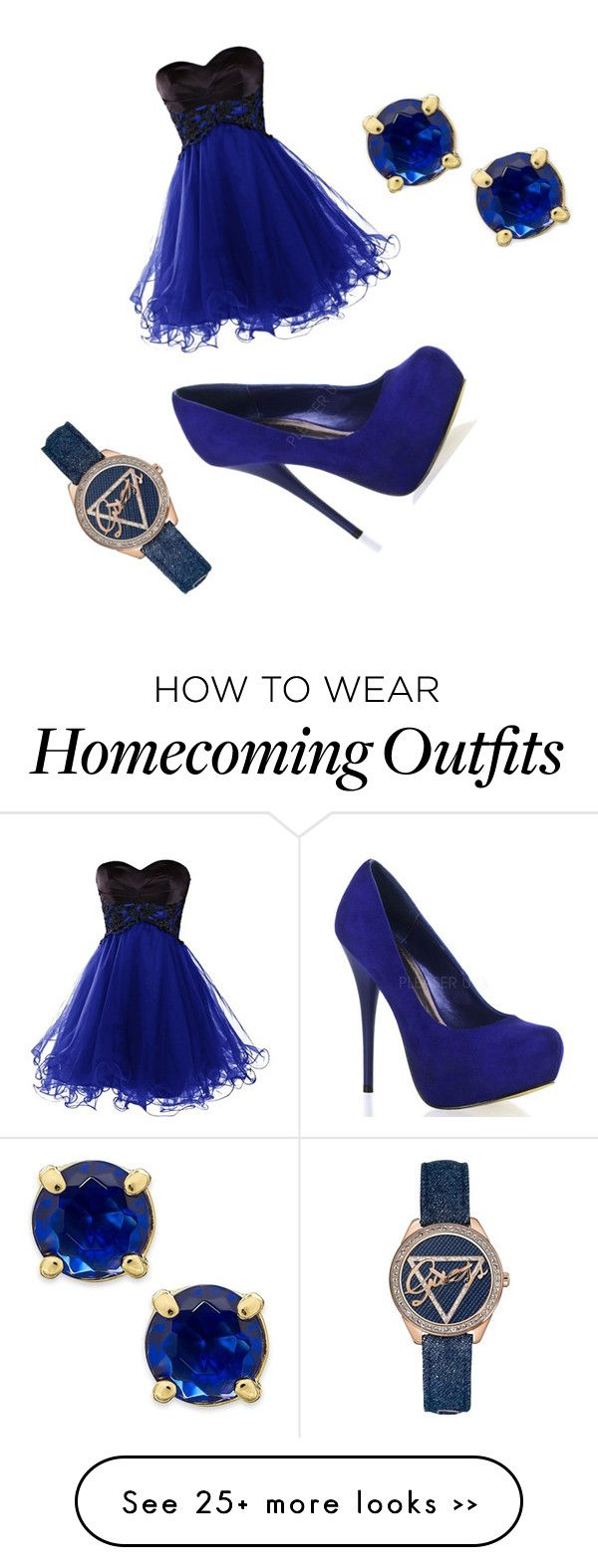 """blue everything"" by hypegirl123 on Polyvore"