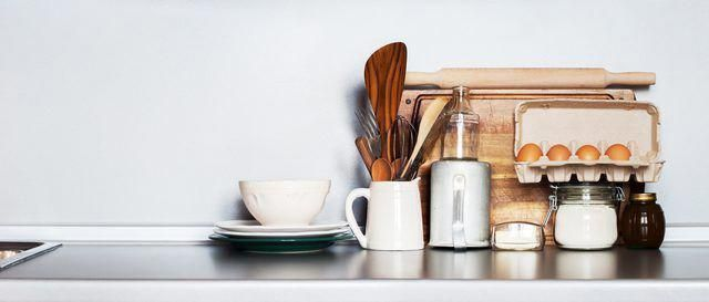 A basic kitchen setup includes essential tools for everyday