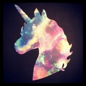 rainbow sky unicorn