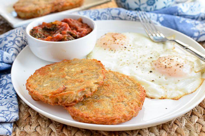 No breakfast is complete without a Crispy Golden Hash Browns and these are syn free and delicious especially when served with perfect eggs or a Full English Breakfast.