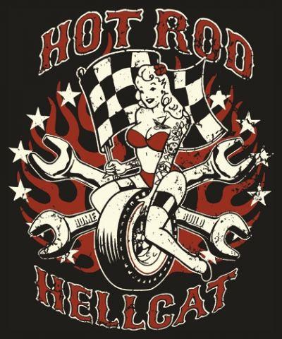 Image de T-Shirt Mec HOTROD HELLCAT - Fast Chick