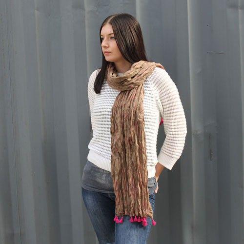 Rose Antique Tassel Scarves - HipAngels.com - Wholesale Scarves #Rose_Scarves_Cotton #Pink_Scarves_Cotton #Large_Scarves_Indian #Indian_Scarves