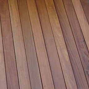 145 x 21mm Smooth Balau Decking. will be nice for the balcony