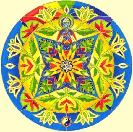 Mandalas : Lotus Buddha Print by Carole Stevens Bibisi