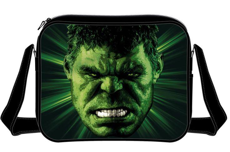 Bandolera El Increíble Hulk, rostro Estupenda  bandolera, unisex,  basada en uno de los héroes de Marvel Cómics.
