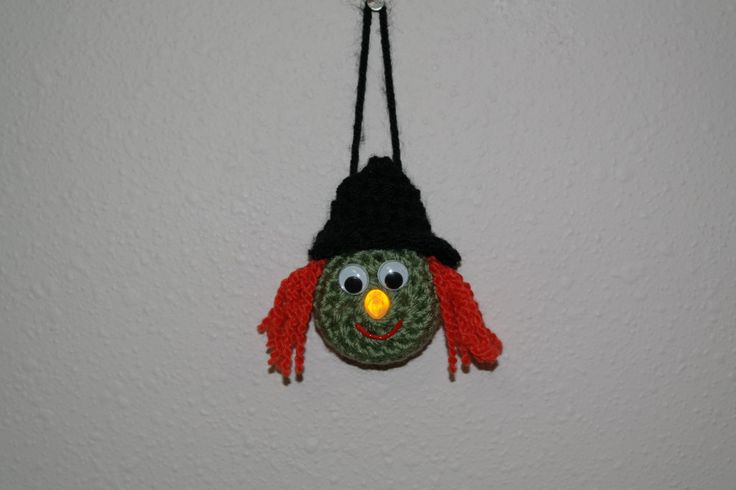 Lighted Witch Ornament - Free Pattern