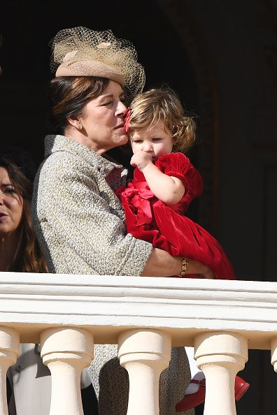 (L-R) Princess Caroline of Hanover,Sacha Casiraghi and Princess Charlene of Monaco attend the Monaco National Day Celebrations in the Mona...