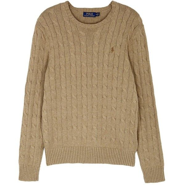 Polo Ralph Lauren Biscuit Cable-knit Cotton Jumper - Size L ($155) ❤ liked on Polyvore featuring men's fashion, men's clothing, men's sweaters, mens cable knit sweater, mens cotton cable knit sweater, polo ralph lauren mens sweater, mens chunky cable knit sweater and mens cable sweater