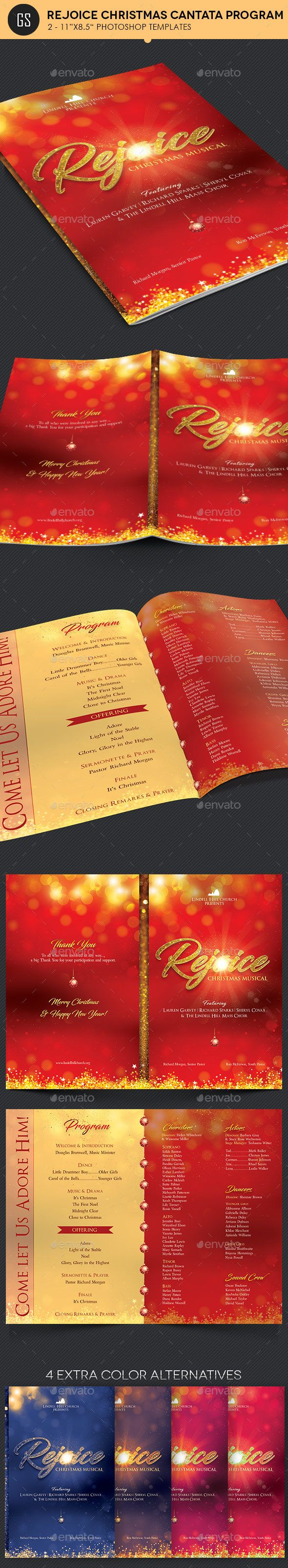 best images about christmas print templates rejoice christmas cantata program template