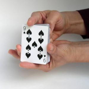 In this classic easy magic trick, you have a spectator select a card and then lose it in the deck. You rest your first finger on top of the deck and as you lift your finger, the spectator's card mysteriously rises with it.: The Rising Card - The Secret