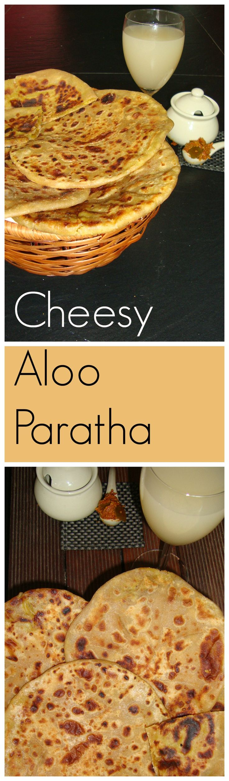 A little twist to the routine aloo parathas....