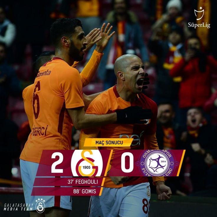 "145b Beğenme, 2,432 Yorum - Instagram'da Galatasaray (@galatasaray): ""Maç sonucu: #Galatasaray 2-0 Osmanlıspor #GSvOSM"""