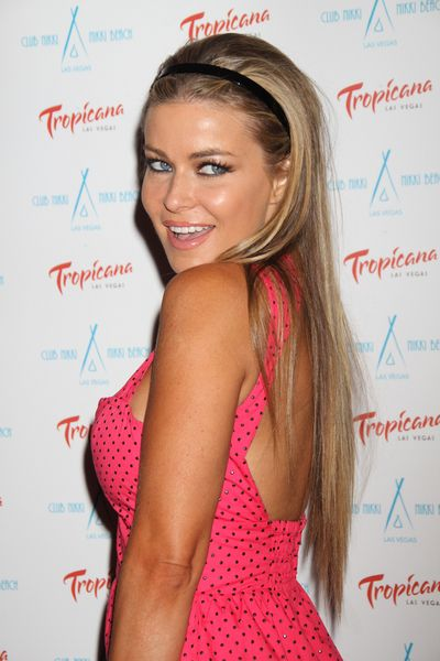 Carmen Electra, long straight hair and headband