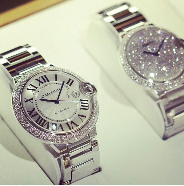 Cartier watches? Just like the one I have but with sparkles!