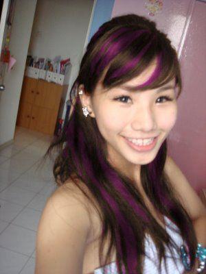 purple highlights on brown hair | deep purple that blonde highlights for black hair , Colour- highlights ...