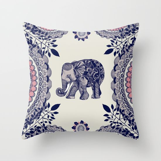 Elephant throw pillow, I love the colors in this, and of course the elephant.  $20
