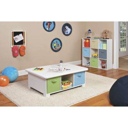Closetmaid 6 Cube Activity Table White Table Storage