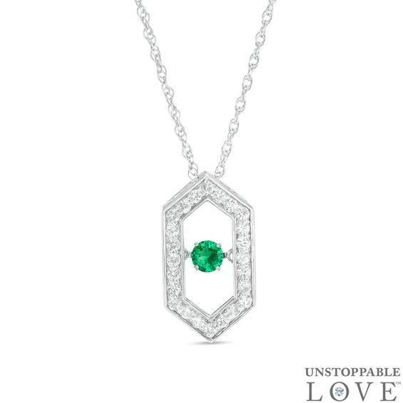 Zales Oval Lab-Created Emerald Curved Bar Necklace in Sterling Silver with 14K Gold Plate 28zP4hJ