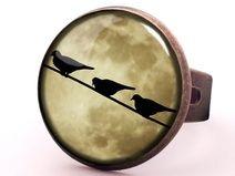 Pierścionek Księżycowe Ptaszki, 0466RB
