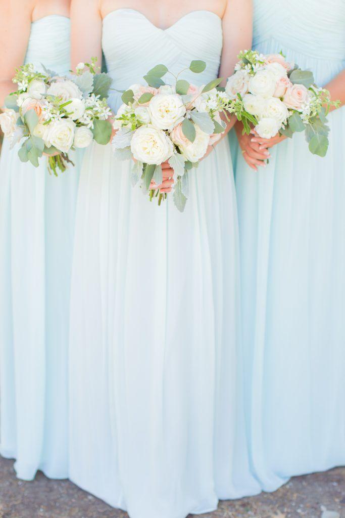 Megan & Cole// California Wedding // Donna Morgan Collection // Bridesmaid Dresses in Beach Glass // James & Jess Photography//