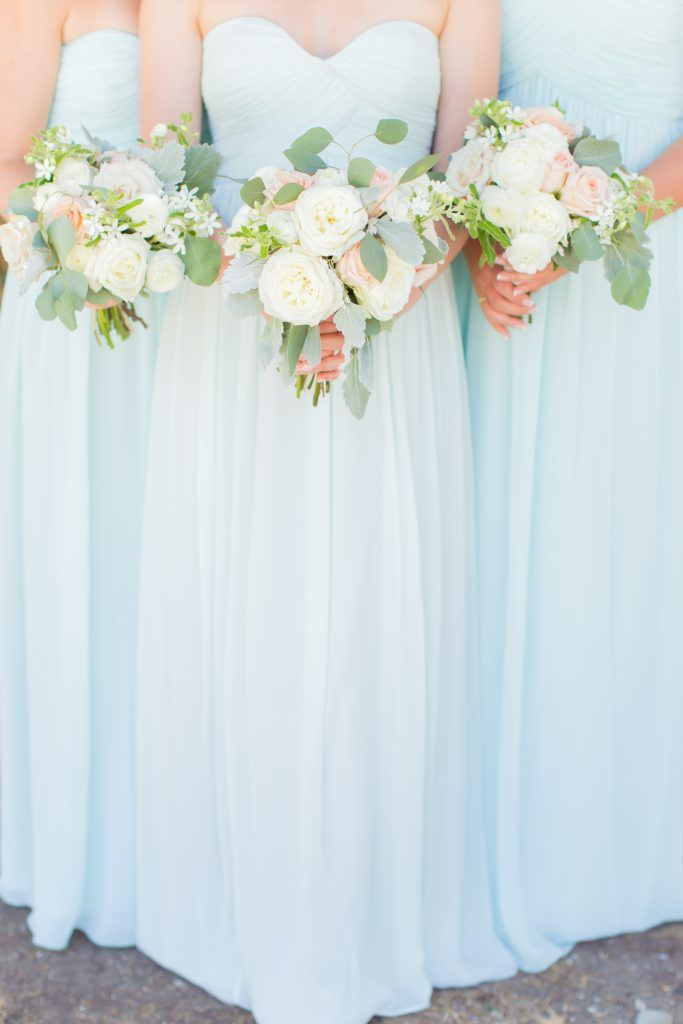 Megan & Cole// California Wedding // Donna Morgan Collection // Bridesmaid Dresses in Beach Glass // James & Jess Photography//