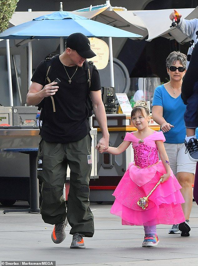 8a8b7072 Doting dad: Channing Tatum took daughter Everly to Disneyland on Wednesday.