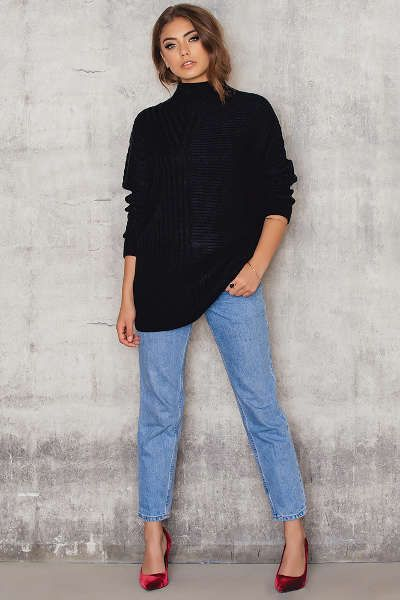 Oversized Asymmetric Knitted Sweater