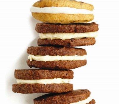 Chocolate and cream icebox cookies
