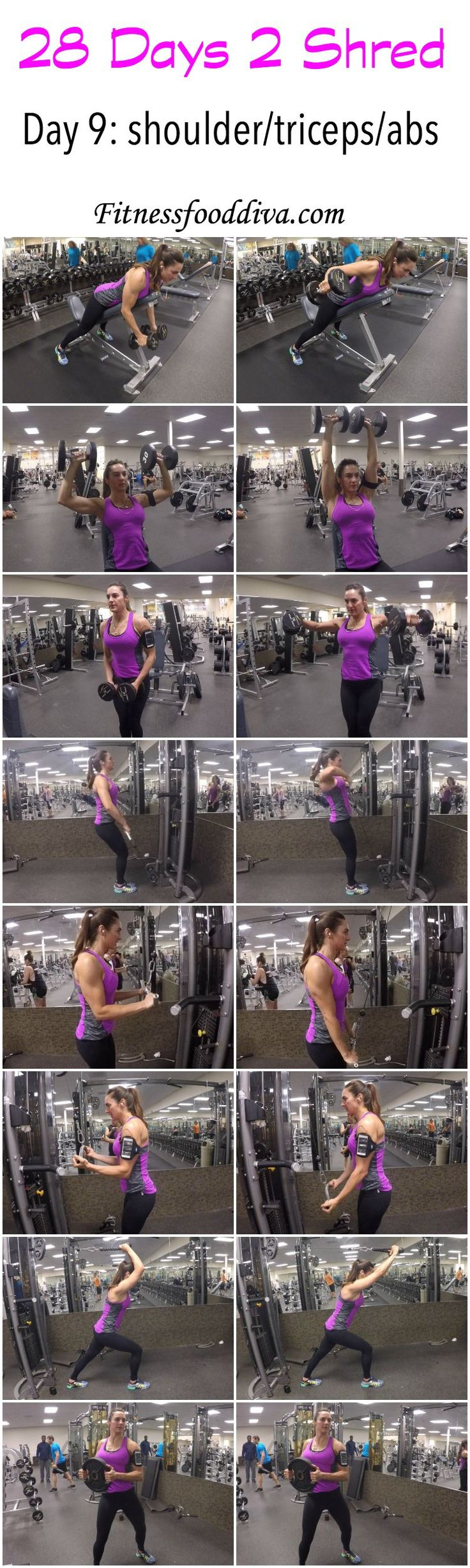 Day 9: Shoulders/triceps/Abs workout/video