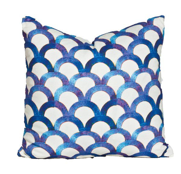 New! ART DECO AZURE $54: Graph Patterns, Pillows 54 00, Deco Pillows, Scallops Patterns, Deco Azure, Art Deco, Fabrics Design, Azur Pillows, Society Social