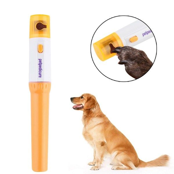 Electric Pet Nail Grinder Trimmer Clipper Nail File Kit | knittedPaws | Price: $7.70 + FREE Shipping     #dog #cat #pet #puppy #grooming #nails #nailfile #kit