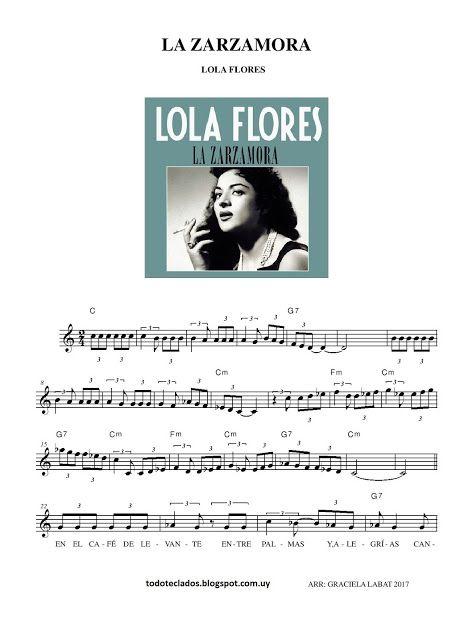 "TODO TECLADOS: ""LA ZARZAMORA"" LOLA FLORES"