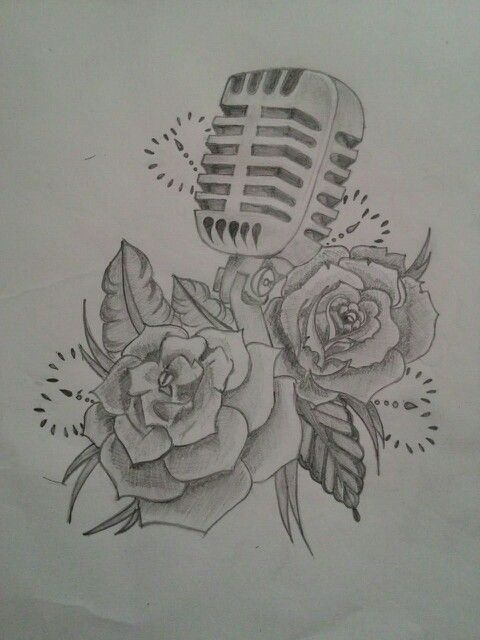 Microphone with roses!