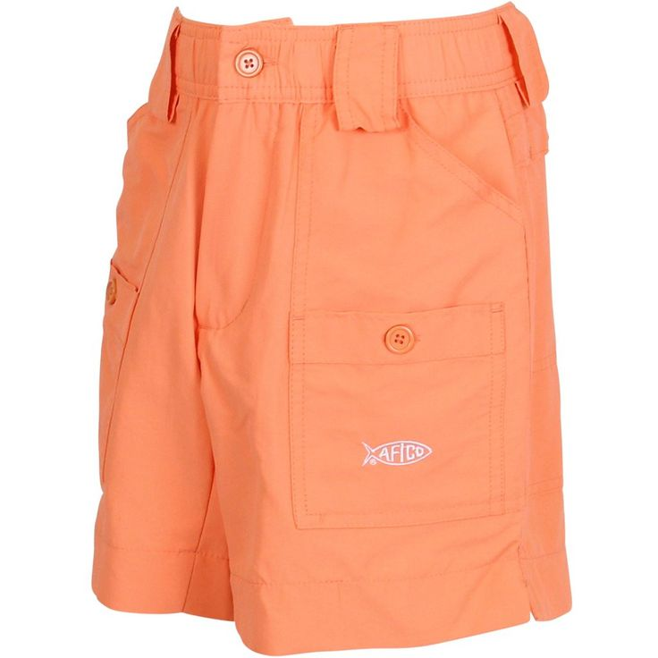 AFTCO - Youth Boys Fishing Shorts - Coral