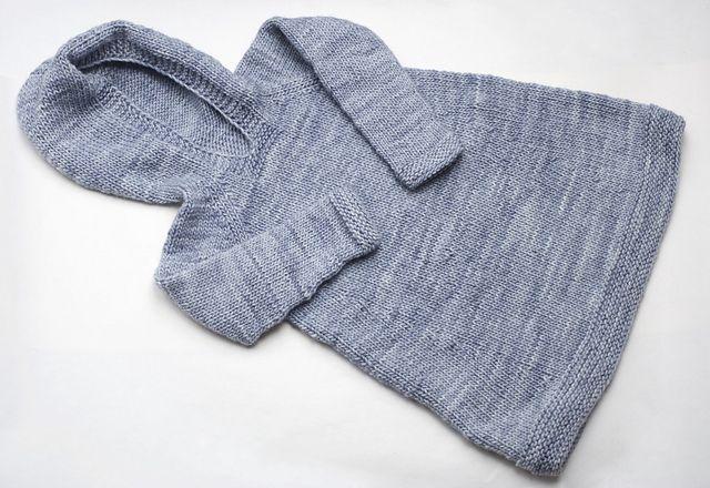 Ravelry: capovak's Plain Girlie Hoodie. Pattern by Anna & Heidi Pickles. Made from Malabrigo Merino Worsted in Polar Morn.