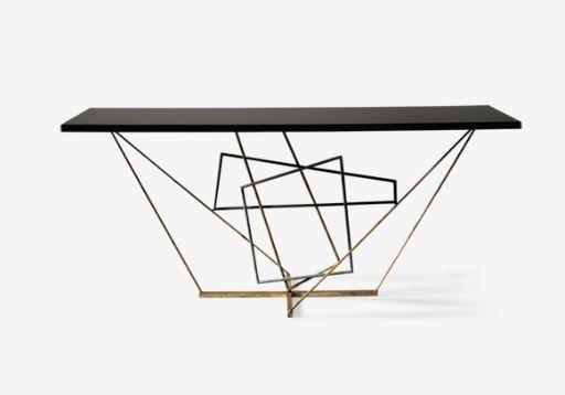 "Porta Romana console table ""Rhomboid"""