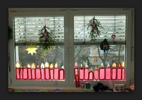 Kerzen aus Transparentpapier – #aus #fensterdekoweihnachten #kerzen #transparent… – Fensterdeko Weihnachten