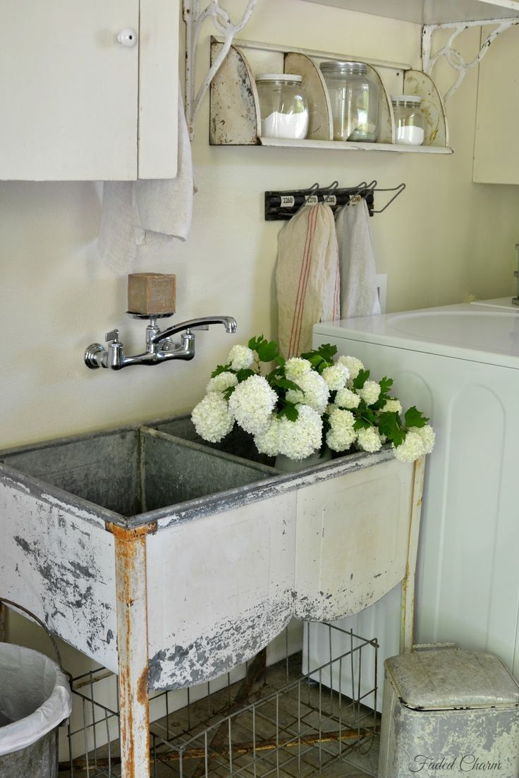 For The Love Of Old, Chippy, Tattered, Crusty And Worn ~. Laundry Room SinkThe  ...