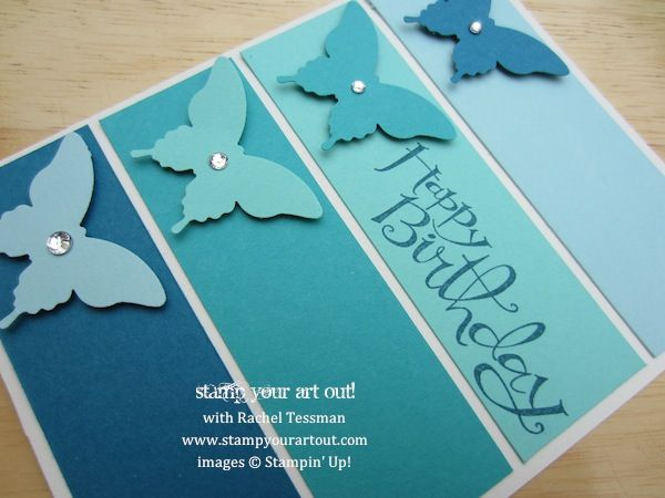 Stampin' Up!'s Sassy Salutations stamp set and Elegant Butterfly punch - Stamp Your Art Out!