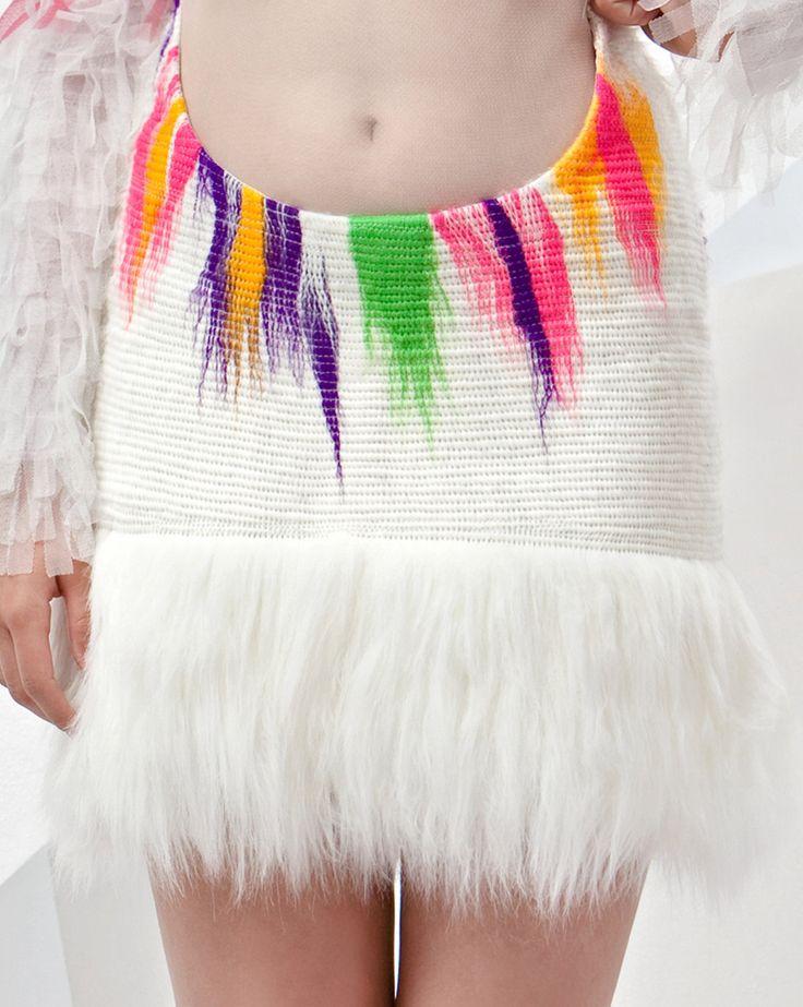 Ooak haute couture outstanding fake fur FRONT by NATIPUREIDEA