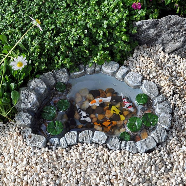 13 best images about mini garden ponds on pinterest for Koi ponds and gardens
