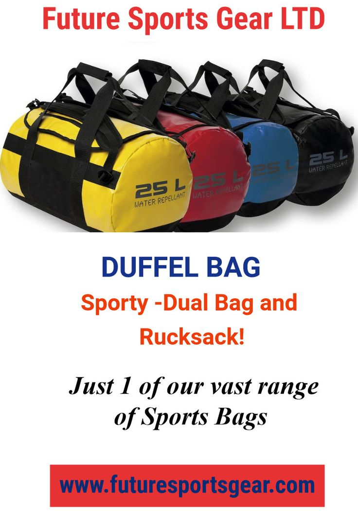 Duffel Bag! #innovative-bag and rucksack! Water repellent/shell and PVC.3 sizes £27.50-£33.00-£39.50 #modern #logo