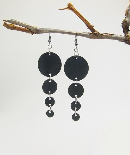 Upcycled inner tube earrings from Be-cycle by DaWanda.com